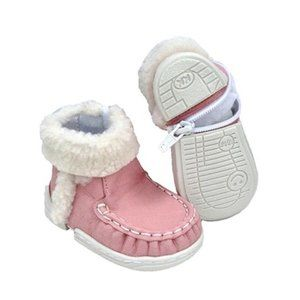 NWT Pink Vegan Leather Baby Toddler Boot Shoe